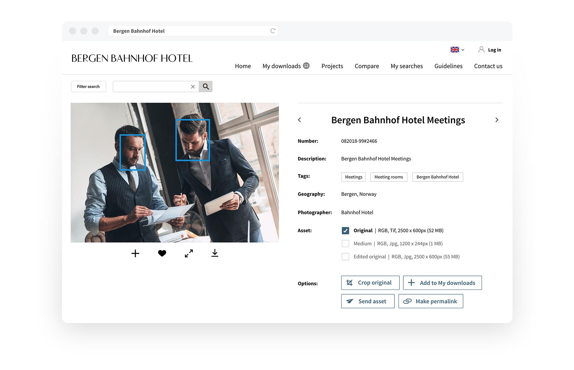 Bergen Bahnhof Hotel, face recognition